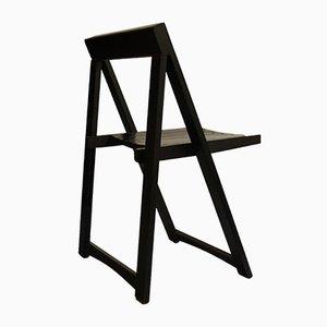 Black Folding Chair by Aldo Jacober for Bazzani, 1970s