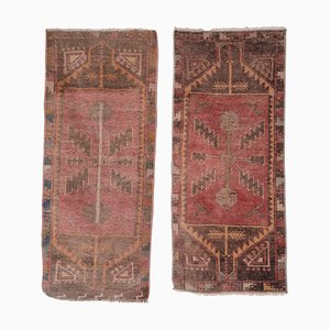 Small Turkish Distressed Rugs, Set of 2
