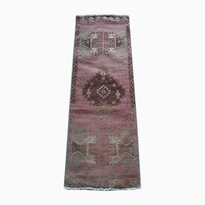 Small Turkish Hand-Knotted Doormat or Entryway Rug