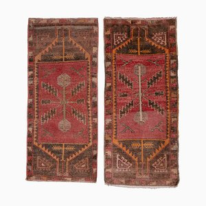 Small Turkish Hand-Knotted Area Rugs, Set of 2