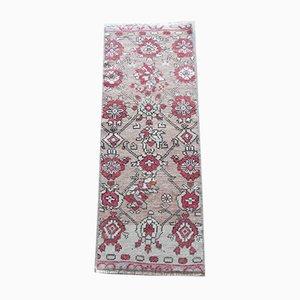 Kleiner türkischer geblümter Vintage Teppich