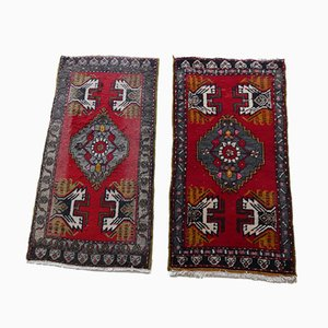 Small Turkish Rugs or Mats, Set of 2