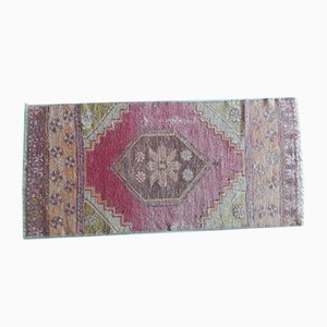 Small Hand-Knotted Undyed Oushak Yastik Rug or Mat