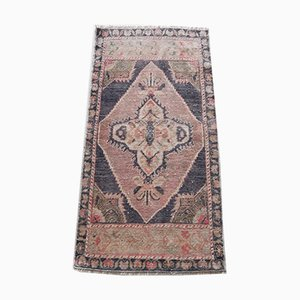 Turkish Hand-Knotted Low Pile Entryway Rug or Mat