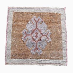 Kleiner handgefertigter türkischer Vintage Teppich, 1970er