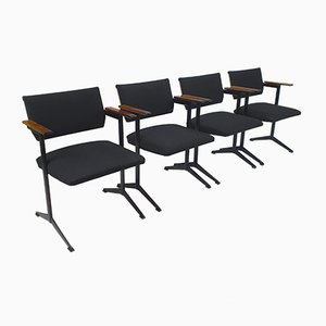 Mid-Century Rosewood and Steel Ariadne Chairs by Friso Kramer for Auping, 1960s, Set of 4