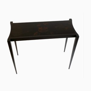 Tortue Console Table in Matte Blackened Wenge and Glossy Varnished Macassar Ebony