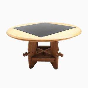 Vintage Oak Monte et Baisse Table by Guillerme et Chambron for Votre Maison