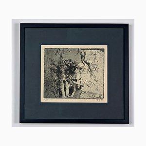 Horst Janssen, The Alp Variations on Heinrich Füssli, Hand-Signed and Framed