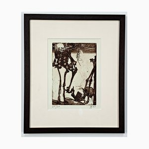 Horst Janssen, Nihil ut umbra, 1983, Hand Signed, Limited and Framed