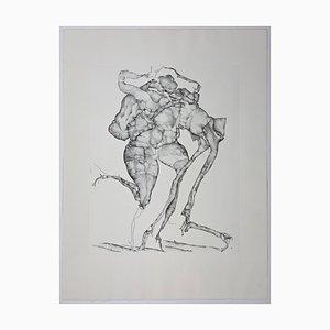 Horst Janssen, Thought Like Drawing, Large Estate Signed Etching