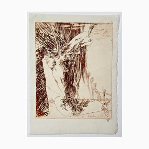 Horst Janssen, Willow Tree, Signed Etching