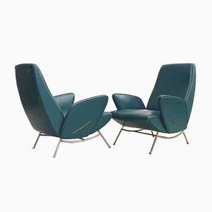 Italian Mid-Century Modern Armchairs by Nino Zoncada, Italy, 1950s, Set of 2