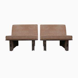 Mid-Century Belgian Teak Garden Chairs, Set of 2