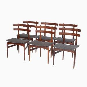 Dänische Modell 30 Esszimmerstühle aus Palisander von Poul Hundevad für Hundevad & Co., 1950er, 6er Set
