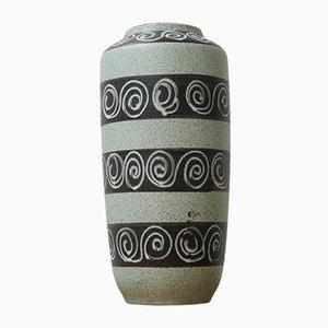Grüne deutsche Mid-Century Keramikvase