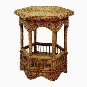 Vintage Rattan Side Table