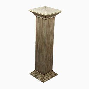 Vintage Rattan Column Stand