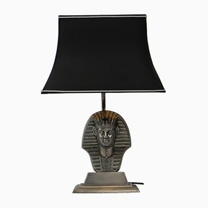 Tin Pharaoh Lamp, 1970s