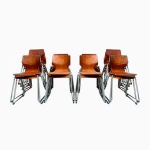 Skandinavischer Stuhl von Pagholz Flötotto, 1970er, 20er Set