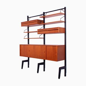 Modular Freestanding Royal Wall System by Poul Cadovius, 1960s, Set of 10