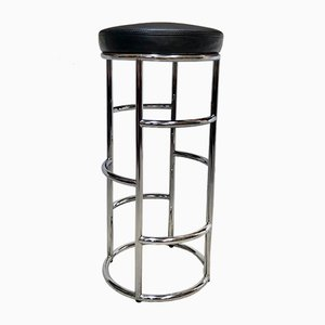 German Art Deco Satish Bar Stool in Leather and Tubular Steel by Eckart Muthesius for Classicon, 1931