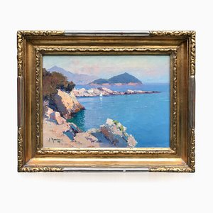 South of France Seascape by Aleksei Vasilievich Hanzen (Active 1876-1937)