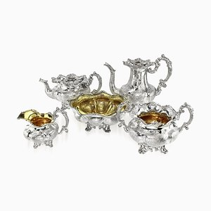 19th Century Imperial Russian Solid Silver Tea & Coffee Service, 1840s, Set of 5
