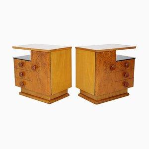 Mid-Century Bedside Tables by Jindřich Halabala for UP Závody, Set of 2