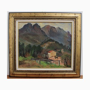 Mountain Landscape, Louise-Jeanne Cottard-Fossey, 1950s, Oil on Canvas