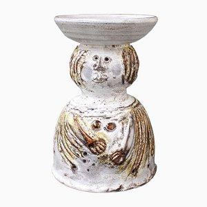 Vintage Ceramic Flower Vase by Pierre Koppe, 1970s