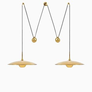 Double Onos 55-Pendant Lamp with Side Counter Weights by Florian Schulz