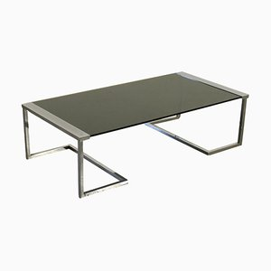 T32 Coffee Table in Chromed Brass and Pine Glass by Gallotti Radice, 1980s