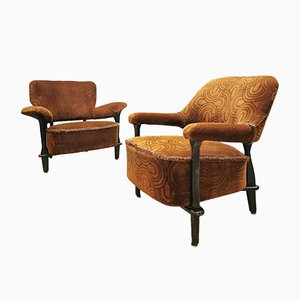 Vintage Dutch F109 Lounge Chairs by Theo Ruth for Artifort, Set of 2