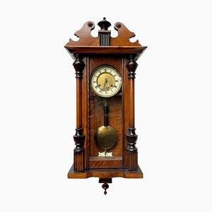 Antique Victorian Walnut Vienna Wall Clock