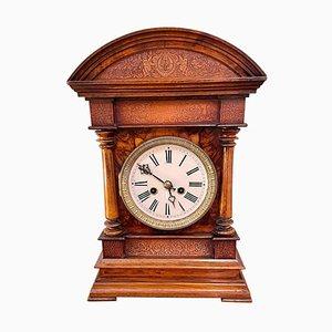 Antique Victorian Burr Walnut Bracket Clock