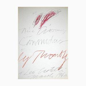 Unbekannt, Twombly Ausstellung, Leo Castelli Gallery, Original Lithographie, 1964