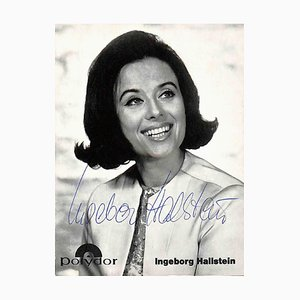 Unknown, Ingeborg Hallstein Autographed Photocard, 1970
