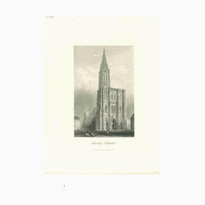 Unknown, Strasbourg Cathedral, Original Lithograph, Mid 19th-Century