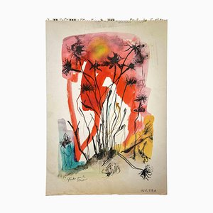 Leo Guida, Studie für das Staton, Original Aquarell Zeichnung, 1970er