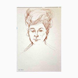Leo Guida, Ritratto, Disegno originale, anni '70