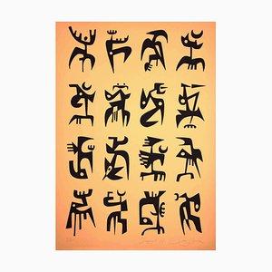 Leo Guida, Signals, Original Lithograph, 1984