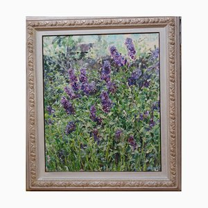 Georgij Moroz, Lilac Flowers, Oil on Canvas, 2005