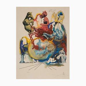 Salvador Dali, Four Dreams of Paradise, Heroic, 1973, Lithographie