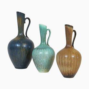 Mid-Century Vases by Gunnar Nylund for Rörstrand, Sweden, Set of 3