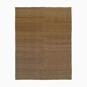 Brown Contemporary Kilim Rug