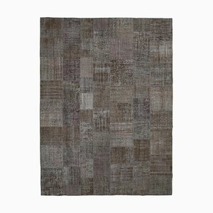 Brown Patchwork Rug