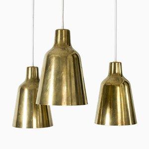 Messing Deckenlampe von Hans Bergström für Ateljé Lyktan