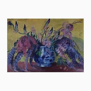 Armand Cacheux, Nature Morte Vase en Faïence, 1955