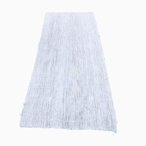 Turkish Vintage Kilim Oushak Handmade Wool Flatweave Runner Rug